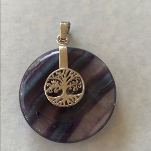 Fluorite Donut with Tree of life